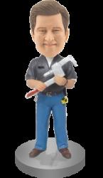 Customised Mechanic Bobble Head