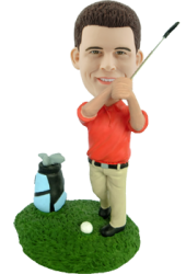 Custom golfer bobble head