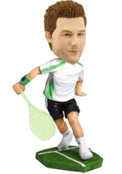 Custom tennis bobble head