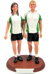 Football Couple Cake Topper