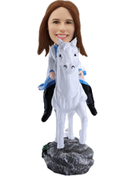 Custom Bobblehead Lady on Horse