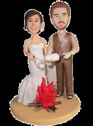 Picnic Couple Wedding Cake Topper