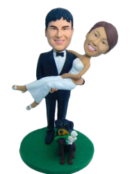 Groom Carring Bride Cake Topper