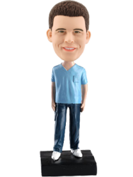 Custom Bobble Head Male Nurse