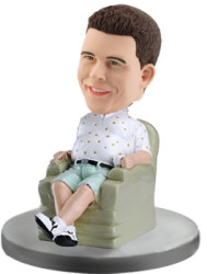 Personalized Bobble Head Casual Man