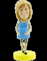 Pregnant Woman Bobblehead