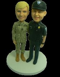 Military Wedding Cake Topper