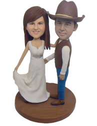 Cowboy Wedding Cake Toppers