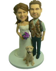 Hunting Theme Wedding Cake Toppers
