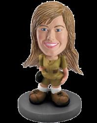 Customized bobblehead Woman adventurer