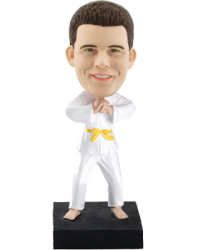 Personalized Judo Bobble Head Doll