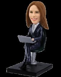 Personalized bobblehead Sexy Secretary