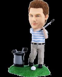 Personalized golfing bobblehead