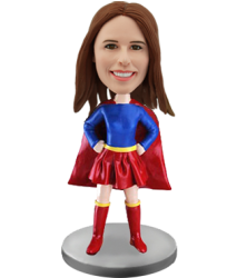 Custom Bobble Head Girl Super Hero