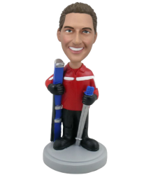 Skiing Buddy Bobblehead