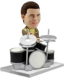 Customized bobblehead Drummer