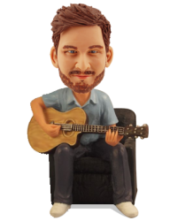 Guitar Player Custom Bobblehead
