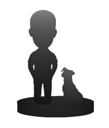 One Person and Dog Bobbleheads