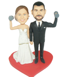 Workout Couple Wedding Cake Topper
