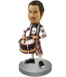 Playing the Drums Custom Bobblehead