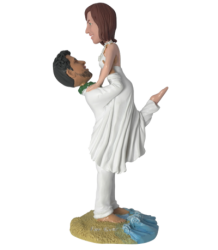 Groom Lifting Bride Cake Topper