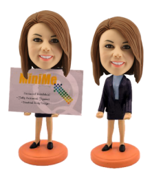 Custom Bobblehead Card Holder For Women