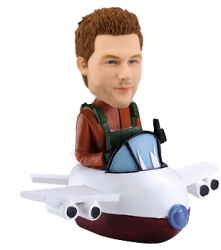 Personalized Bobble Head Pilot