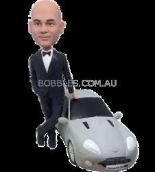 Black Suit Man and Luxury Car