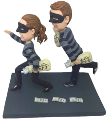 Robbers Couple Funny Bobbleheads
