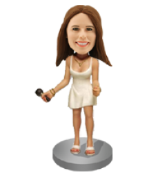 Female Singer  Custom Bobbleheads