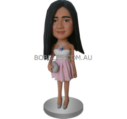 Fashion Young Girl Custom Bobble