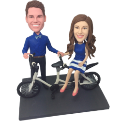 Bicycle Couple Custom Bobbles