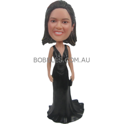 Black Dress Lady Custom Bobblehead