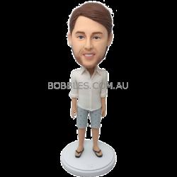 Boy in Shorts Custom Bobblehead