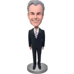 Business Man Custom Bobble
