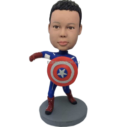 Captain American Boy Custom Bobble