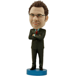 Confident Man Custom Bobble