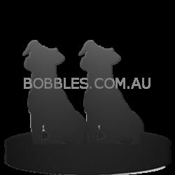 2 dog figurines