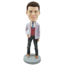 Custom Bobble Head Stylish Man
