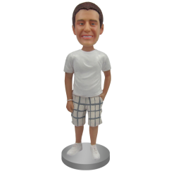 Custom Bobblehead T-shirt and Bermuda Shorts
