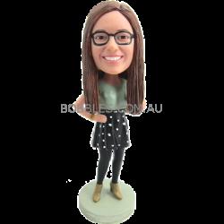 Custom Lovley Girl Bobble Head