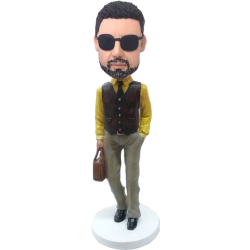 Customised Bobble Head Sylish Man