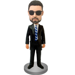 Customised Bobblehead Trademan In Suit