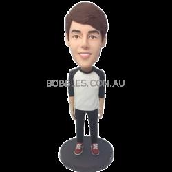 Customized Casual Boy Bobble Head