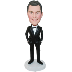 Dark Suit Groomsman Bobble