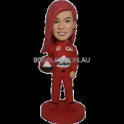 Female F1 Racer Bobble Head