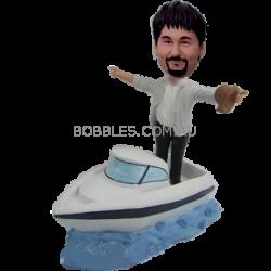 Personalized Custom Speedboat Bobbleheads