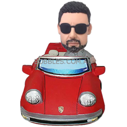 Bobble Man With Red Car