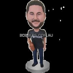 Man With Champagne Custom Bobblehead