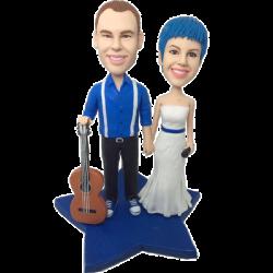 Music Couple Wedding Bobbles